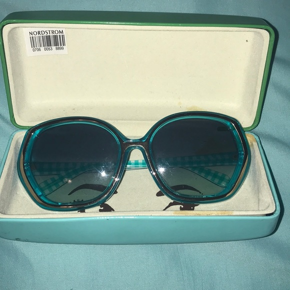 Beautiful turquoise Kate Spade shades with case